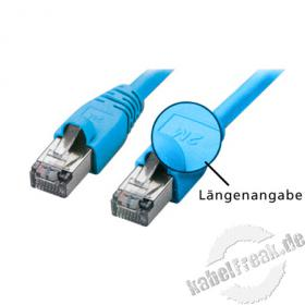 Patchkabel SF/UTP, CAT.5E, blau, 1,5 m