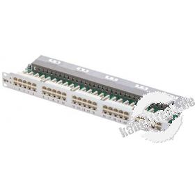 MetzConnect BTR ISDN-Patchfeld, Cat.3, 25 Port, 19', silber