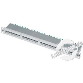MetzConnect BTR Patchfeld E-DAT design, Cat.6, 24 Port, 19', silber eloxiert