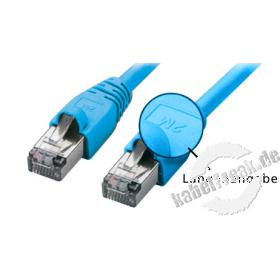 Patchkabel SF/UTP, CAT.5E, blau, 2,0 m