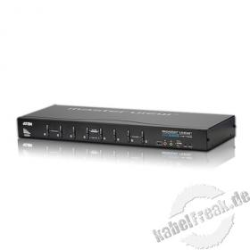 ATEN DVI KVM Switch CS1768 mit Audio, USB, 8-fach, Desktop und 19'