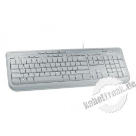 Microsoft Wired Keyboard 600, USB, beige Preisgünstige Multimedia-Tastatur