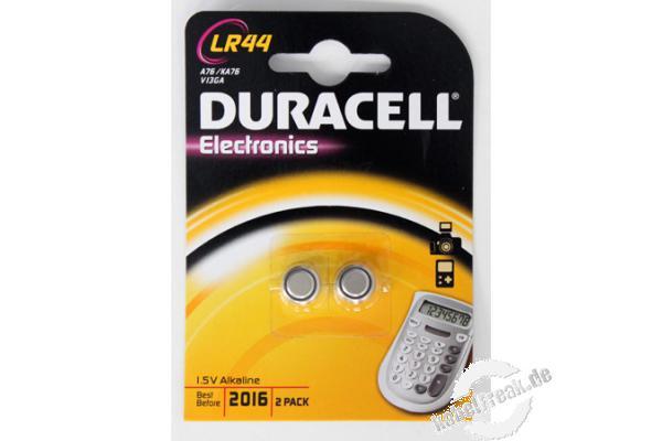 duracell knopfzellen lr44 ve 2 st ck batterie f r. Black Bedroom Furniture Sets. Home Design Ideas