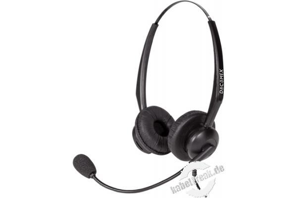 dacomex telefon headset 2 ohrmuscheln schwarz. Black Bedroom Furniture Sets. Home Design Ideas