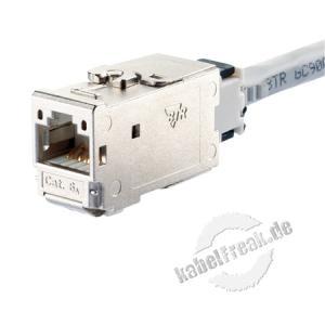 MetzConnect C6Amodul Anschlussbuchse, Cat.6A, 180° Zum Einbau in Modulträger, Datendosen oder IP 44 Aufputzgehäuse