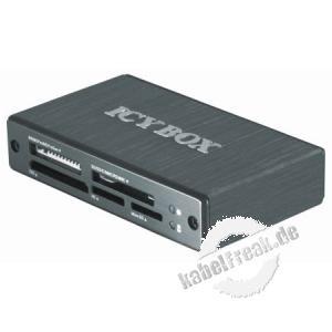 ICY BOX externer USB 3.0 Multi Kartenleser IB-869a Hochgeschwindigkeits-Kartenleser für alle gängigen Speicherkarten
