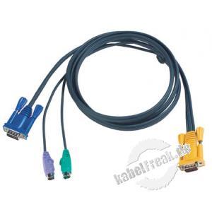 Oktopuskabel PS/2, 1,8 m Zum Anschluss eines PCs an Arbeitskonsolen und KVM-Switche