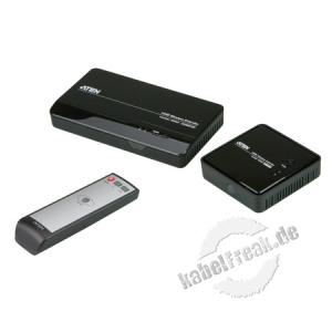 ATEN VE809 HDMI Wireless Extender Erweitert den Übertragungsweg zwischen Ihrem HDMI-Bildschirm und der HDMI-Signalquelle auf bis zu 30 m ohne Kabel