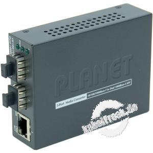 Planet Medienkonverter GT-1205A, 1x 1000/100/10 Mbit/s (RJ45), 2x SFP Slot 1000/100 Mbit/s Zur Konvertierung von Gigabit Ethernet auf Kupferleitungen in LWL und umgekehrt