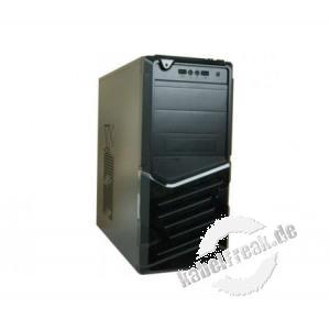 PC Gehäuse,  ATX  mit Audio / USB, schwarz ATX Gehäuse