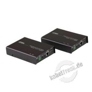 ATEN VE814 HDMI A/V + Ethernet-Verlängerung über einfaches Kat.5e/6-Kabel (100m) Ermöglicht die Signalübertragung zwischen HDMI-Signalquelle und HDMI-Anzeigegerät über größere Übertragungswege