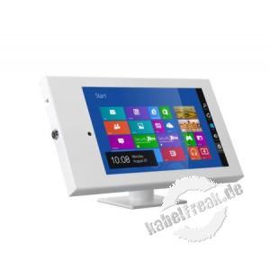 SecurityXtra SecureDock™ Uno Low Profile, Verstellbares, hochsicheres Gehäuse und Halterung für iPad 2, 3, 4, Air, Air 2 Der SecureDock Uno Desk Tilt ist ideal für die Montage Ihres iPads auf Ihrem Schreibtisch oder Ihrer Arbeitsfläche
