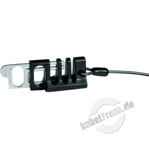 Verriegelungssystem für Gerätekabel / Kabelschlösser kombiniertes Vorhängeschloss mit 4-stelligem Zahlencode oderSchlüsselöffnung