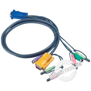 Oktopuskabel PS/2 mit Audio, 1,8 m Anschlusskabel für KVM-Switch 217CS1754 und 217CS1758 zum Anschluss an PCs mit PS/2 Anschluss