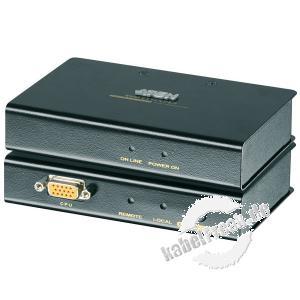 ATEN KVM Extender über Cat.5e Verkabelung, PS/2, High Quality, Desktop und 19'-fähig, mit Überspannungsschutz  Ermöglicht die Übertragung von Monitor-, Keyboard- und Maussignalen bis zu 150 m über die vorhandene Cat 5e Verkabelung