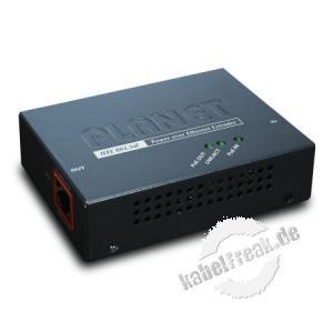Planet Power over Ethernet Extender POE-E101, 100/10 Mbit/s, 13 Watt Vergrößert die maximale Leitungslänge bei PoE Anwendungen