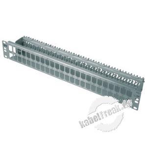MetzConnect Modulträger für 48 E-DAT modul Anschlussbuchsen, 19', Edelstahl Zum Aufbau eines Patchfeldes mit bis zu 48 Ports