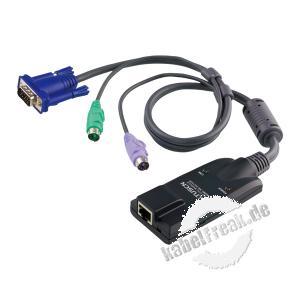 ATEN Altusen PC-Modul KA7520 für Matrix-Switch, PS/2 Zum Verbinden eines PCs mit PS/2 Anschluss mit einem KVM-Switch KH2805A / KH2516A