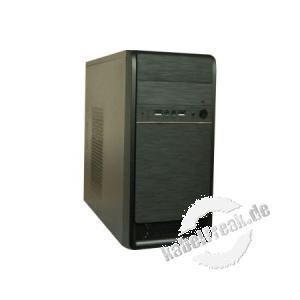 PC Gehäuse, Micro ATX  mit Audio / USB, schwarz Preiswertes Micro ATX Gehäuse mit Frontanschlüssen