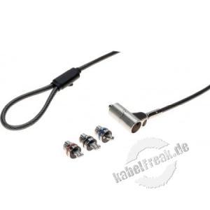 Dacomex universelle Verriegelung mit 3 Headshot K-Lock / Wedge / HP Nano Passend für die meisten Laptop-Diebstahlsicherungen | 'Push-to-Lock' -Sperre, der Schlüssel wird nur zum Entsperren verwendet