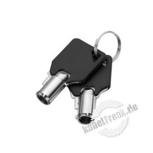 Dacomex Master Key für Multi-Diebstahlsicherung (91507) Sicherheitssystem mit Schlüsseln und 1,8 m Kabel