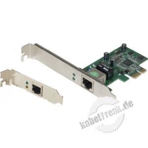 Netis Netzwerkkarte AD1103, 1 Gigabit/s, PCI Express, Standard und Low Profile Zum Anschluss eines PCs an ein Gigabit Ethernet Netzwerk