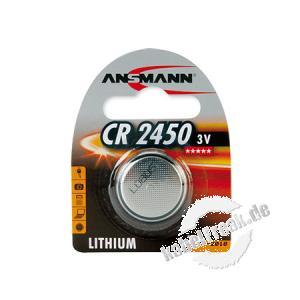 Ansmann Knopfzelle, CR 2450 (3V), VE: 1