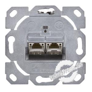Telegärtner Datendose AMJ-S flex, Cat.6A (ISO / IEC), 2-fach Designfähige Modul-Aufnahme AMJ-S flex im Keystone-Format inkl. 2xAMJ-S-Modul Cat.6A