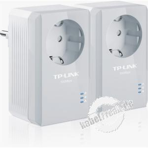 TP-Link TL-PA4010PKIT AV500+ Powerline-Ethernet-Adapterkit mit Frontsteckdose, Kit mit 2 Stück Hochgeschwindigkeits-Datenübertragung über das Stromnetz