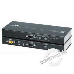 ATEN KVM Extender mit Audio über Cat.5e Verkabelung, für Touchscreen geeignet, USB, RS232, Desktop und 19'-fähig, mit Überspannungsschutz Ermöglicht die Übertragung von Monitor-, Keyboard-, Maus-, Audio- und seriellen Signalen bis zu 200 m über die vorhan
