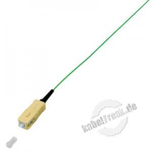 LWL Faserpigtail, 50/125 µm, OM2-Faser, SC Stecker, 2,0 m SC Faserpigtail zum Einbau in Spleißboxen