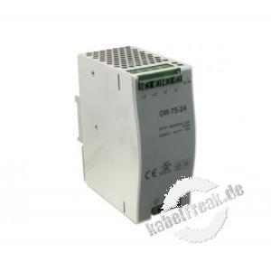 Industrienetzteil für die Hutschiene, 24 Volt, 3,2 A, 75 W Stromversorgung für die Industrieumgebung