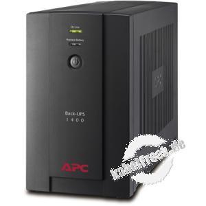 APC USV Back-UPS BX1400U-GR 1400 VA / 660 Watt 4x Schutzkontakt Ausgänge Günstige Line-Interactive Einstiegs USV für Ihre PC und Netzwerkkomponenten