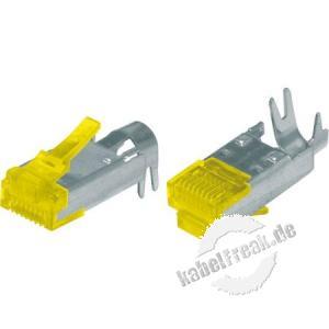 Hirose Modularstecker TM31, Cat.6a  (nur Stecker ohne Knickschutztülle und Kabelführung 'Guide Plate'), VPE 50 Stück RJ45 Stecker für Patchkabel