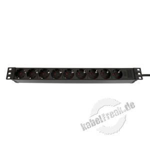 Dexlan 19' Steckdosenleiste 9-fach, Anschlussleitung 2,5 m, schwarz