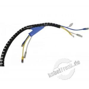 Spiral-Kabelschlauch, 20 mm, schwarz, 2 m Zum Bündeln von Kabeln im Büro und Zuhause