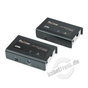 ATEN KVM Extender über Cat.5e Verkabelung CE100, USB, mit Überspannungsschutz