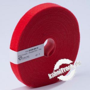 Patchsee Klettband Eco-Scratch, Breite 19 mm, Länge 10,0 m, rot Preisgünstiges Klettband auf der Rolle zum schonenden Befestigen von Kabeln