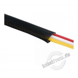 Kabelummantelung, 2 cm Breite, flexiblel, schwarz, 5,0 m Schützt ideal Kabel und Litzen