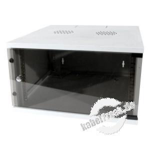 Dexlan 19' Wandgehäuse Eco, 4 HE, 540 x 450 mm, RAL7035 grau Wandgehäuse für den Einbau von Netzwerkkomponenten bis 35 kg