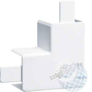 Hager Flachwinkel für Leitungsführungskanal tehalit.LF 40 x 40 mm, reinweiß RAL 9010, M58059010