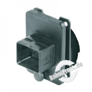 MetzConnect E-DAT Industry Flanschgehäuse 'V4', IP67, System Steadytec Wasserdichtes Flansch für RJ45 Buchseneinsatz zur Montage an Gehäusen, Flanschgehäuse