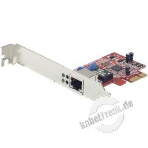 Dexlan Netzwerkkarte, 1 Gigabit/s, PCI Express, Standard und Low Profile Zum Anschluss eines PCs an ein Gigabit Ethernet Netzwerk