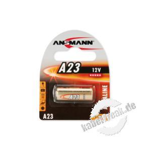 Ansmann Alkaline A23 (12 V), für Fernbedienungen Batterie z. B. geeignet für verschiedene Garagentor-Fernbedienungen