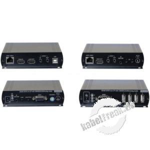 Dexlan KVM Extender Over IP, bis zu 150 m, HDMI / USB, Set