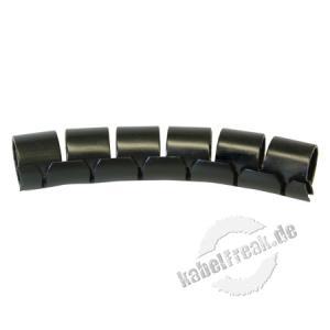 Spiral-Kabelschlauch FIXIT-EASY, max. Bündeldurchmesser 10 mm, Schwarz, 10 m Rolle zum Schutz und Bündeln von Kabel- / Leitungsträgern ohneFlexibilitätsverlust
