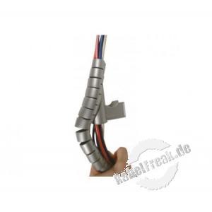 Spiral-Kabelschlauch, 20 mm, silber, 30 m Zum Bündeln von Kabeln im Büro und Zuhause