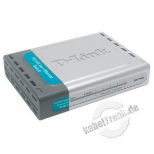 D-Link Fast Ethernet Switch, 5 Port, Desktop Switch zum Anschluss von bis zu 5 PCs an ein Fast Ethernet Netzwerk