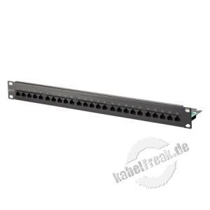 MetzConnect ISDN-Patchfeld, Cat.3, 25 Port, 19', schwarz