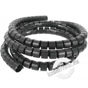 Spiral-Kabelschlauch, 20 mm, schwarz, 30 m Zum Bündeln von Kabeln im Büro und Zuhause